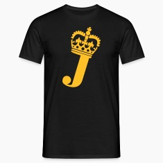 Black J - Crown - Letters T-Shirts