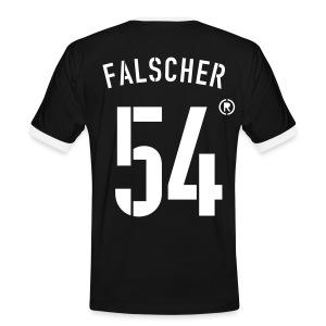 FALSCHER 54r - Männer Kontrast-T-Shirt
