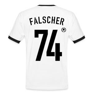 FALSCHER 74r - Männer Kontrast-T-Shirt