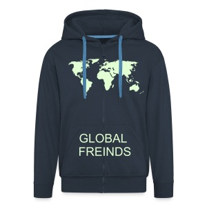 GLOBAL FRIENDS  MEN'S  HOODIE  RANGE - Men's Premium Hooded Jacket