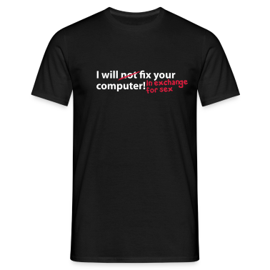 Black computer sex T-Shirt