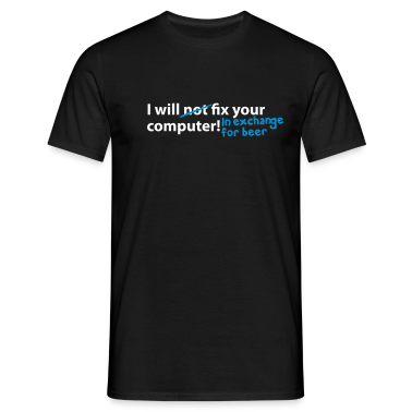 Black computer beer T-Shirt