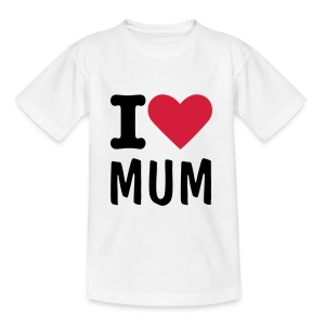 Children's I Luv with any text - Teenage T-shirt