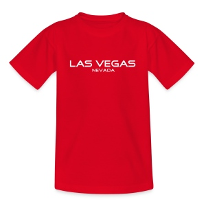 Kinder-T-Shirt LAS VEGAS, NEVADA rot - Teenager T-Shirt