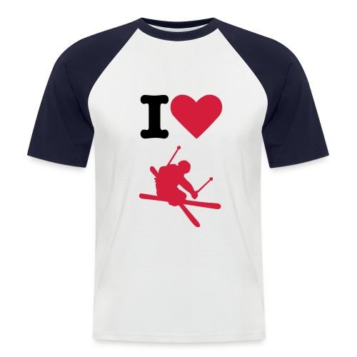 Perfekt til at have uden på skijakken i en XXL - Kortærmet herre-baseballshirt