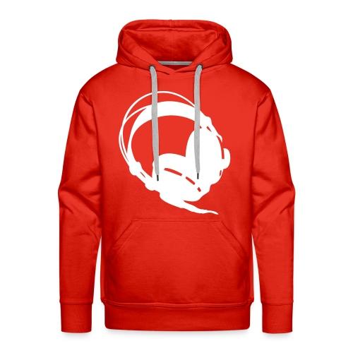 earphones hood red - Men's Premium Hoodie