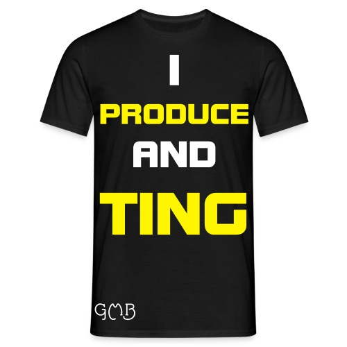 I Produce And Ting WHITE/YELLOW - Men's T-Shirt