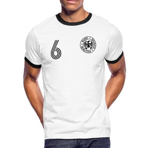 DOPPEL 6 (Home) - Männer Kontrast-T-Shirt