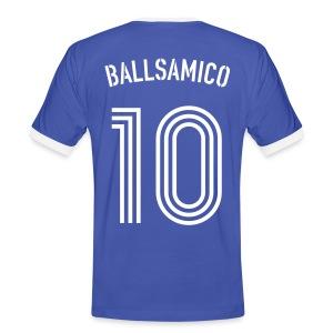 BALLSAMICO 10 (Azzurro i Bianco) - Männer Kontrast-T-Shirt