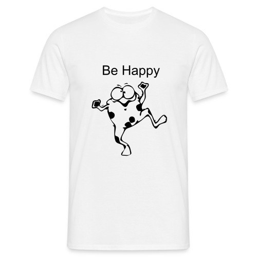 Be happy - T-skjorte for menn