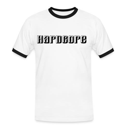Hardcore, zwart flex - Mannen contrastshirt