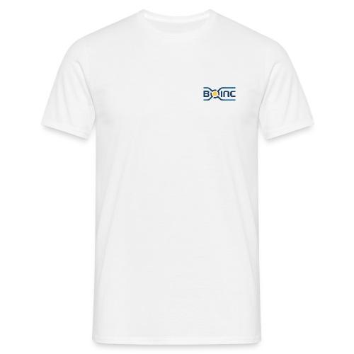 BOINC White Basic Tee (logo chest, small) - Men's T-Shirt