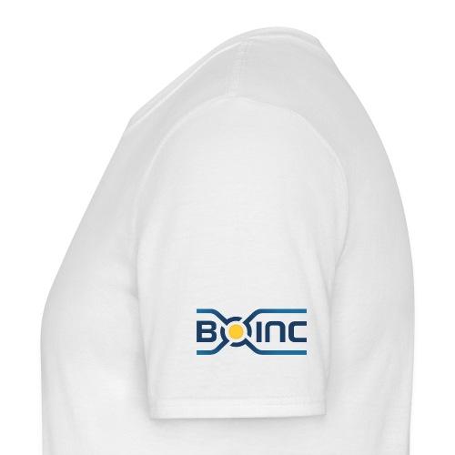 BOINC White Basic Tee (logo left sleeve) - Men's T-Shirt
