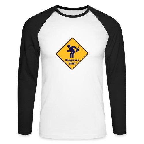 tee-shirt manche longue - T-shirt baseball manches longues Homme