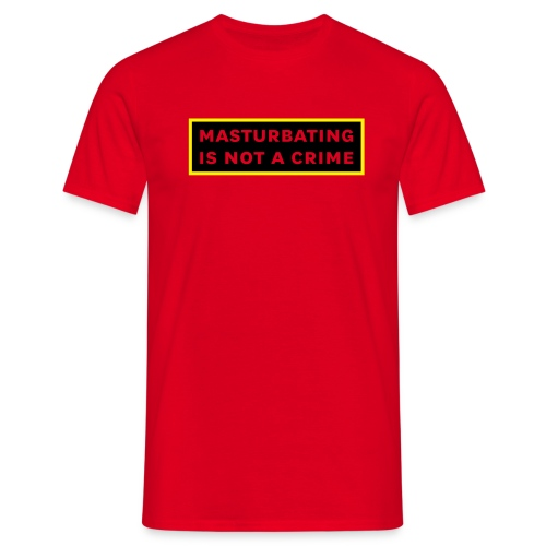 M* Is not a Crime - Red Tee - Men's T-Shirt