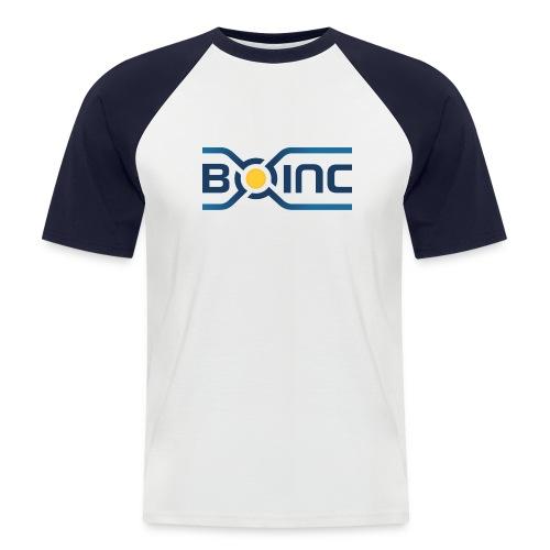 BOINC White/Blue Tee (logo front, web address back; more colors!) - Men's Baseball T-Shirt