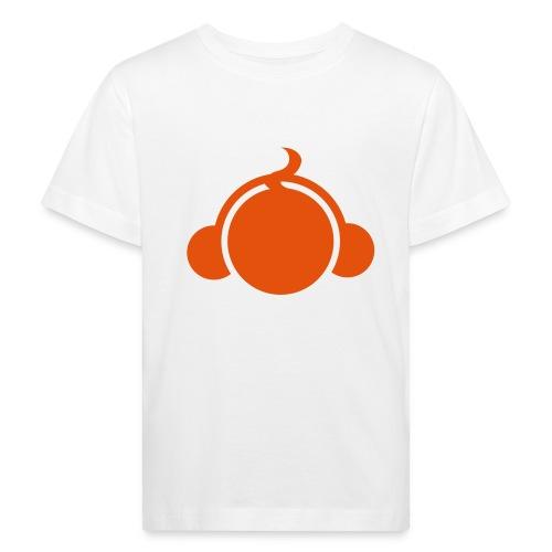 BabyDJ oranje/wit - Kinderen Bio-T-shirt