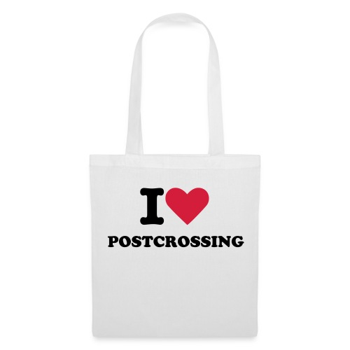 I love Postcrossing Tote bag White - Tote Bag