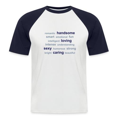 Mens words  tshirt - Men's Baseball T-Shirt
