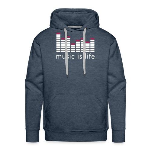 Versy-Music is life hood  - Men's Premium Hoodie