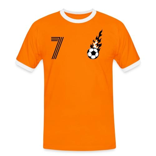 VAN DRUUBEN (7) - Männer Kontrast-T-Shirt