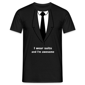 Suits + awesome - Mannen T-shirt