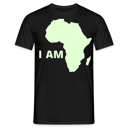 I AM AFRICA (Glow In The Dark) - Men's T-Shirt