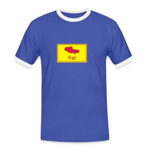 Tibet frei - Männer Kontrast-T-Shirt