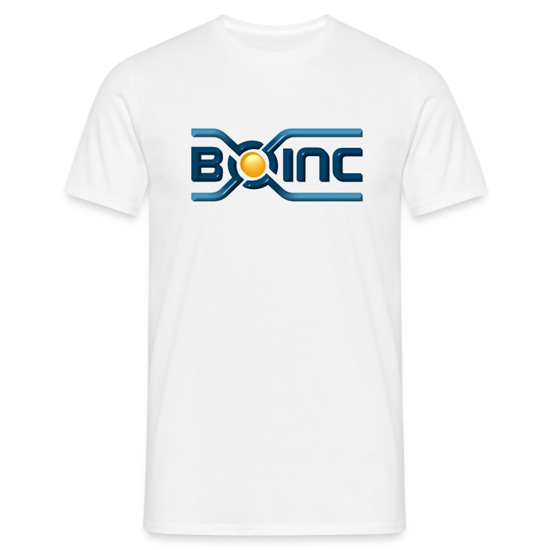 BOINC White Basic Tee (3D logo front)  - Men's T-Shirt