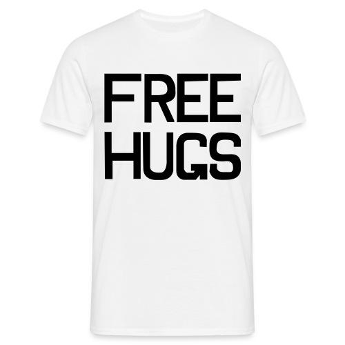 FREE HUGS Wit - Mannen T-shirt