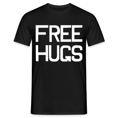 FREE HUGS Zwart - Mannen T-shirt