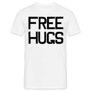 FREE HUGS Wit | Voor & Achterkant - Mannen T-shirt