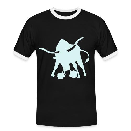 Stier reflex - Männer Kontrast-T-Shirt
