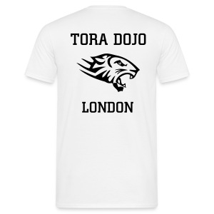 WHITE N BLACK T (TIGER BACK) - Men's T-Shirt