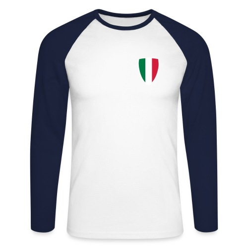 Italia - Maglia da baseball a manica lunga da uomo