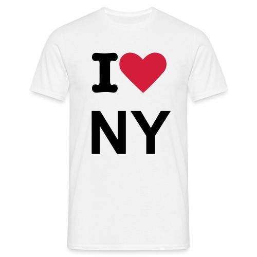 white I LOVE NY T-shirt - Men's T-Shirt