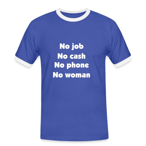 No nothing, but happy - Men's Ringer Shirt