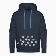 Blu scuro Snow - Winter - Christmas Pullover