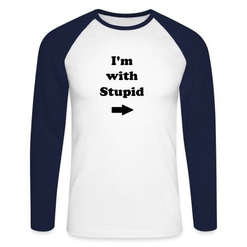I'm with Stupid - T-shirt baseball manches longues Homme