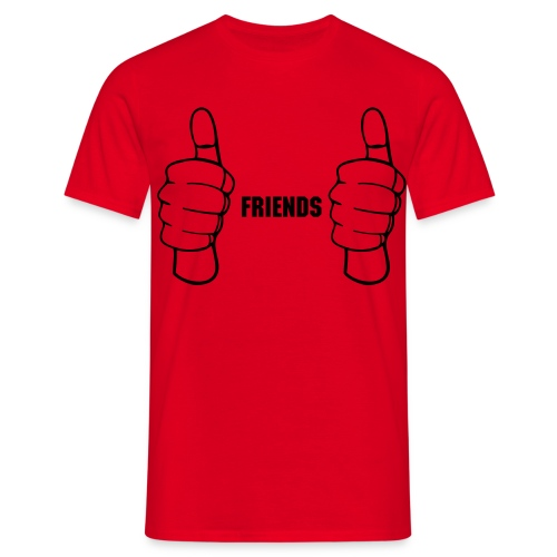 Friends Red tee shirt - Men's T-Shirt