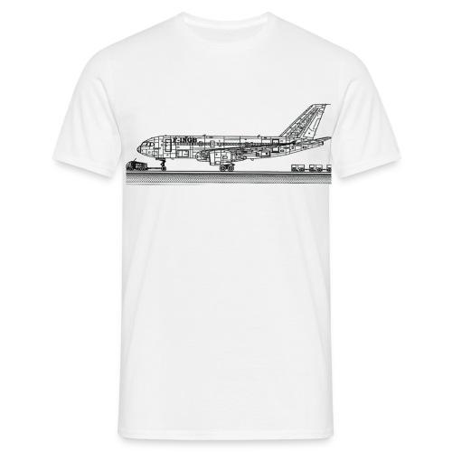 homme , avion de coté - T-shirt Homme