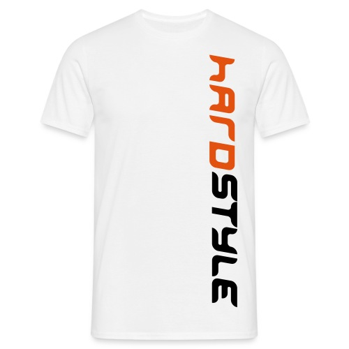 Hardstyle T-shirt White/Orange - Men's T-Shirt