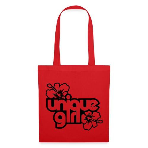 Unique Girl, Red - Tote Bag