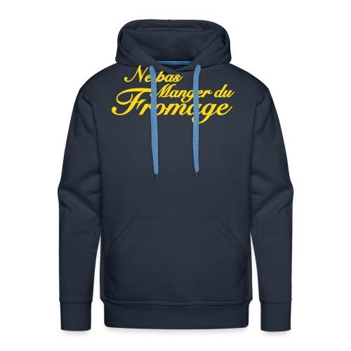 Geen kaas van gegeten capuchontrui man - Mannen Premium hoodie