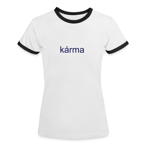 navy karma - Women's Ringer T-Shirt