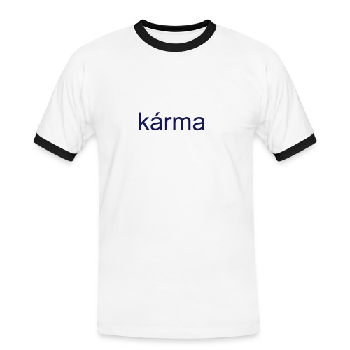 navy karma - Men's Ringer Shirt