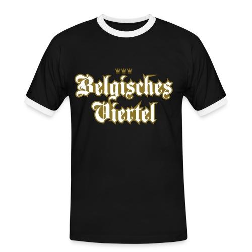 Belgisches Viertel (Frakturschrift) - Männer Kontrast-T-Shirt