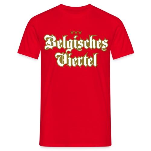 Belgisches Viertel (Frakturschrift) - Männer T-Shirt
