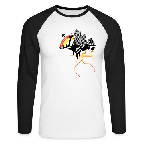 Cologne urban style - Männer Baseballshirt langarm