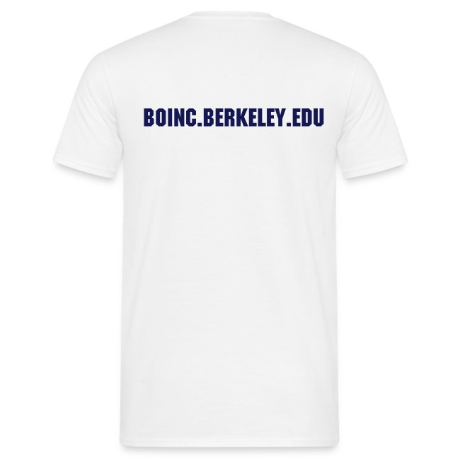 BOINC White Basic Tee (logo front, web address back)
